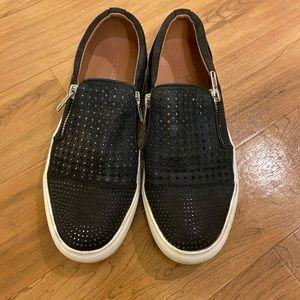 Report Black Slip On Zip Up Tennis Shoes